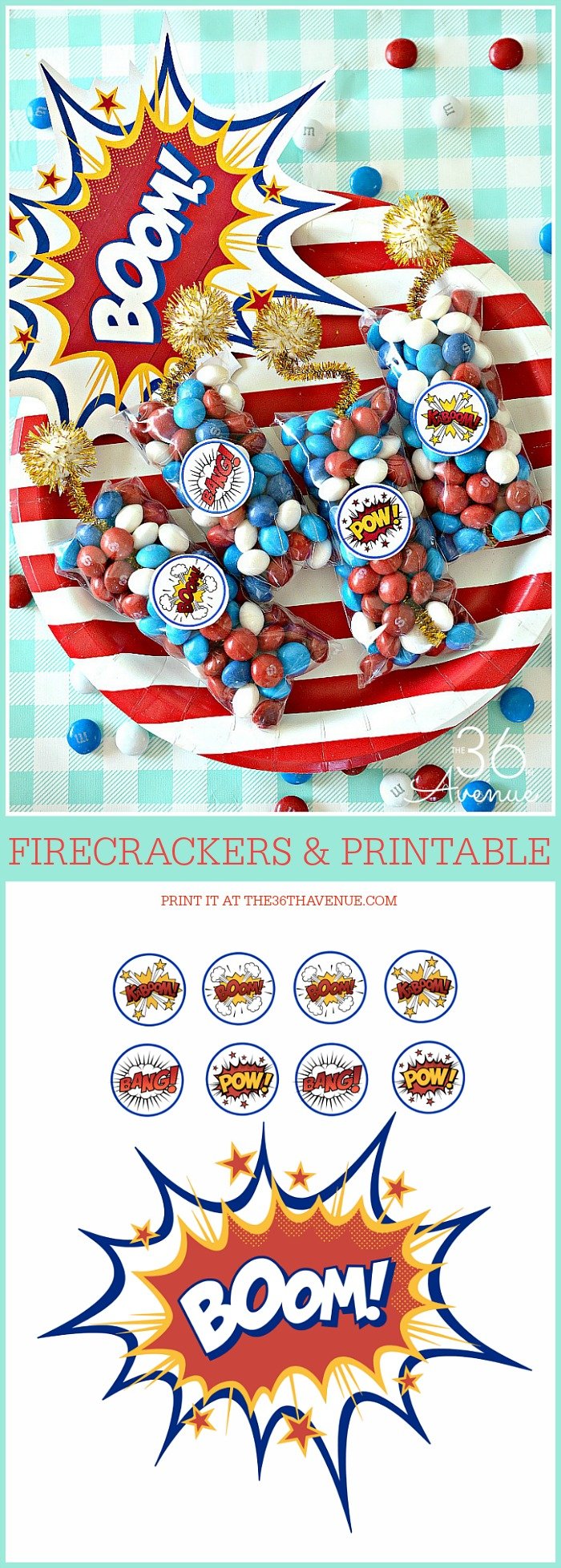 Fourth Of July Firecrackers and Printable at the36thavenue.com
