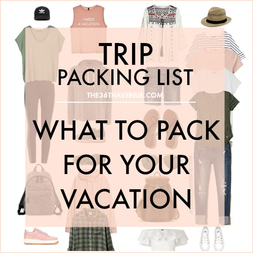 Trip Packing List – Vacation Outfits