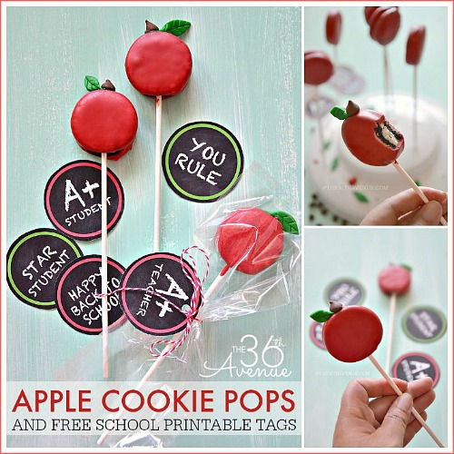 Back To School – Cookie Apple Pops