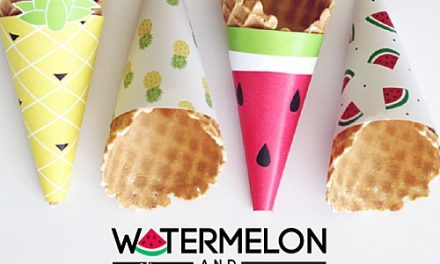 Free Printables – Ice Cream Cone Wrappers