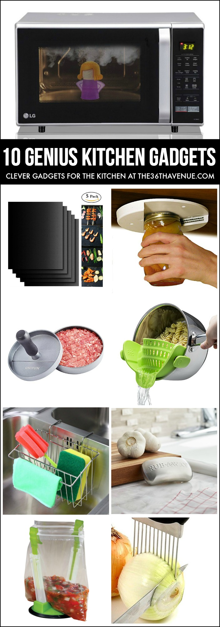 Clever Kitchen Gadgets that every kitchen should have. Kitchen organization and cleaning ideas.