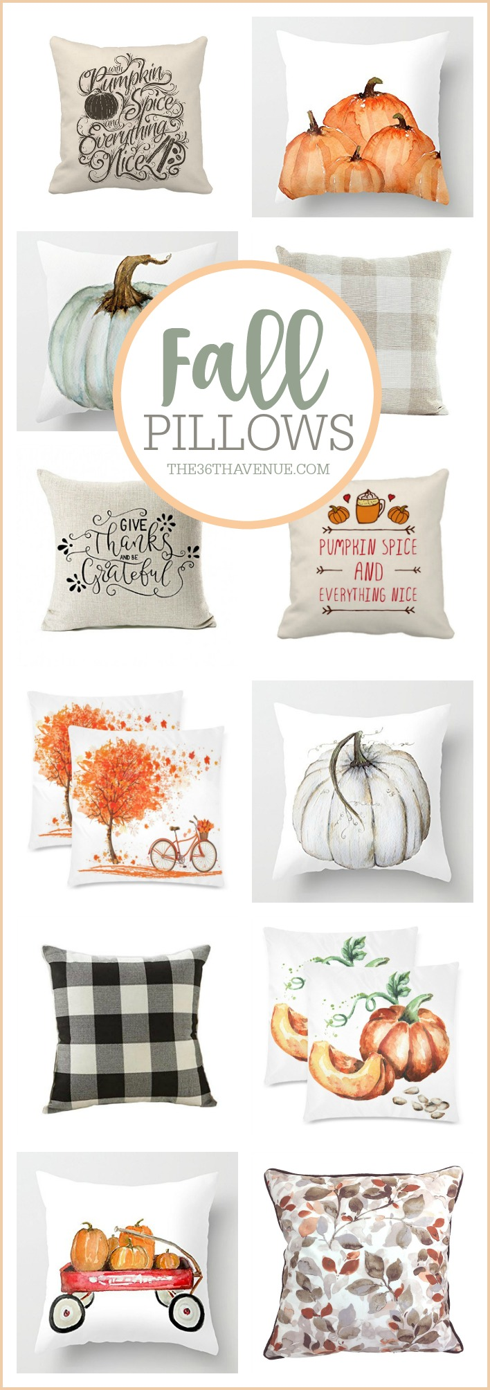 Fall Pillows, Fall Home Decor, Farmhouse Decor Ideas