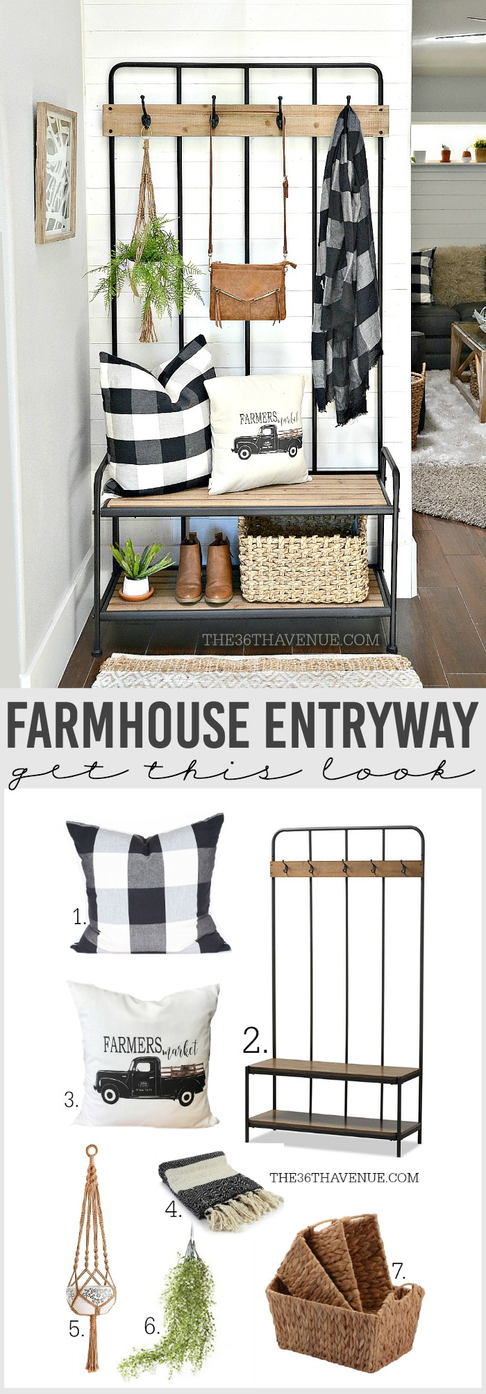 Beautiful and versatile Farmhouse Entryway Decor Ideas that are affordable and easy to put together.