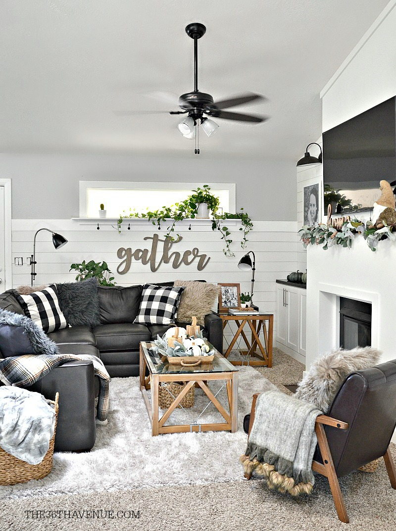 Living room farmhouse decor ideas the 36th avenue - Modern wall decor for living room ...