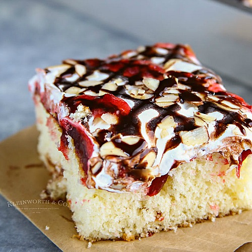 Raspberry Cream Poke Cake Recipe