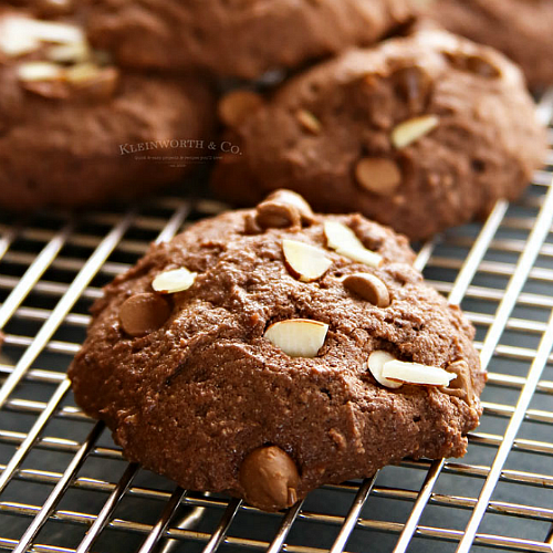 Chocolate Almond Ricotta Cookies