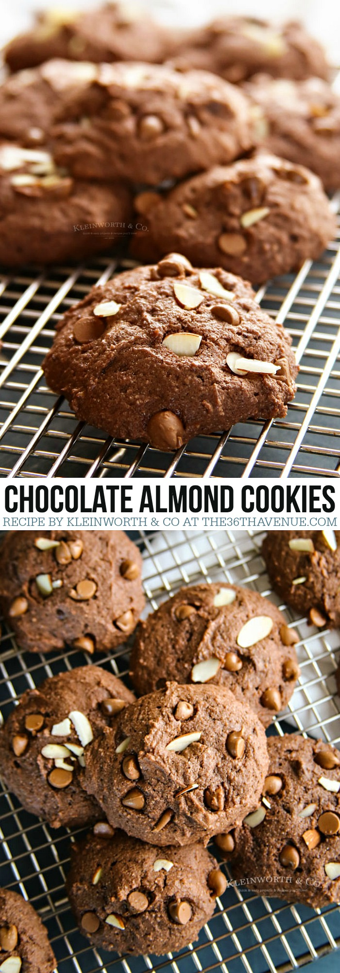 Chocolate Almond Cookies at the36thavenue.com