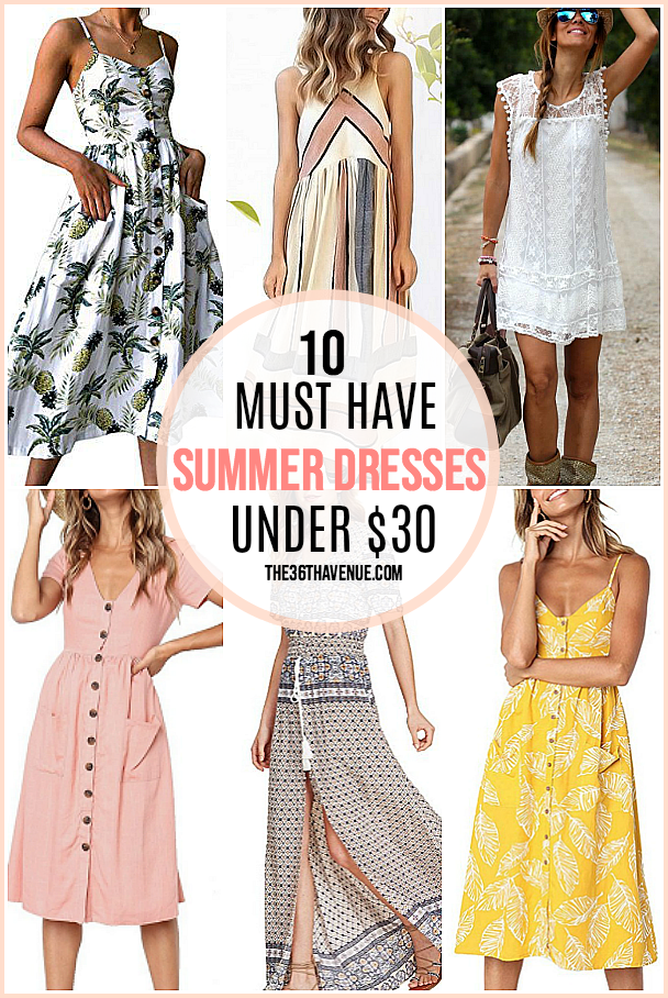 Affordable summer dresses for women. These are cute and fun to wear and perfect for everyday use. See the best summer dresses at the36thavenue.com