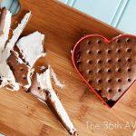 Valentine Dessert – Heart Ice Cream Sandwiches