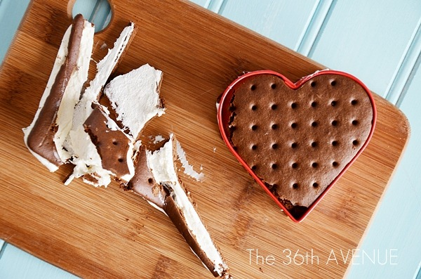 Valentine Dessert – Heart Ice Cream Sandwiches
