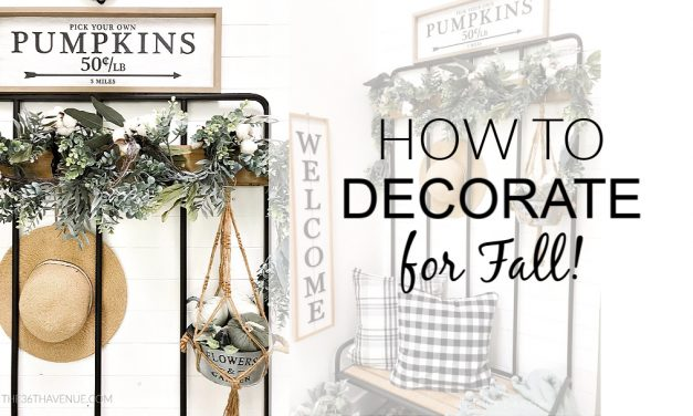 Entryway Decor – Fall Decor Ideas